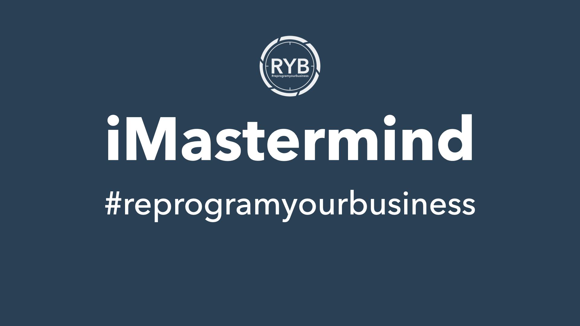 Jaarprogramma | iMastermind | #reprogramyourbusiness